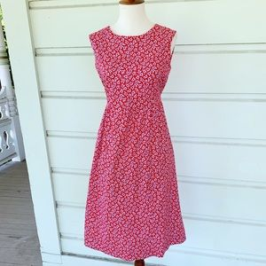 Vintage Floral Red, White & Blue Tie Back Dress